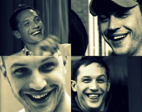 paperfacesonparade:    Tom Hardy smile appreciation.  I adore his wonky teeth <3    So much <3 for the wonky teeth. Makes me sad he's in process of fixing them.