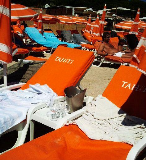My Saint Troprez holidays - le Tahiti beach