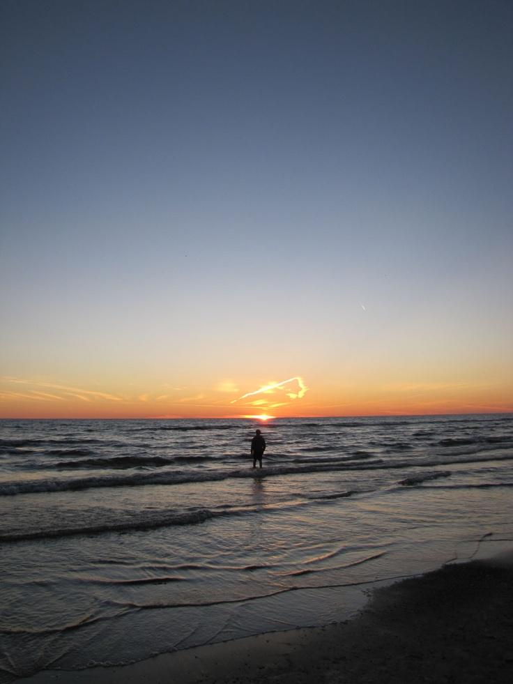 Sunset at Sauble Beach.