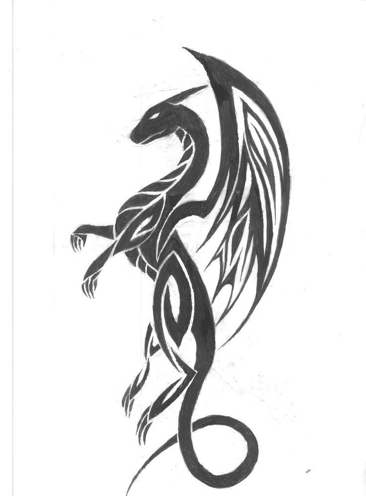 tribal dragon tattoo for women Tattoo ideas on Pinterest 126 Pins