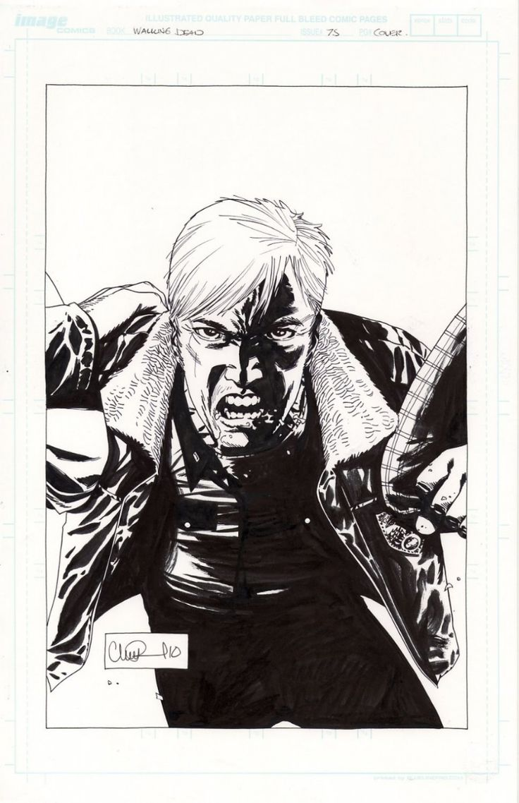 Walking Dead 75 Original Cover by Charlie Adlard Comic Art ...