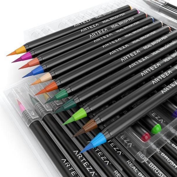 Watercolour Real Brush Pens Set Of 48 Brush Pen Pen Sets Pen