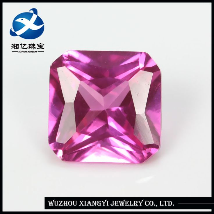 Synthetic (lab created) square shape ruby corundum gemstones for sale