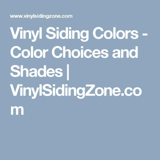 Vinyl Siding Colors - Color Choices and Shades | VinylSidingZone.com
