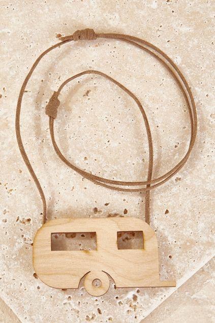 RUST AND WOOD - Caravan Necklace