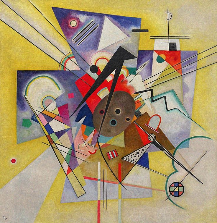 Wassily Kandinsky - Yellow Accompaniment, 1924