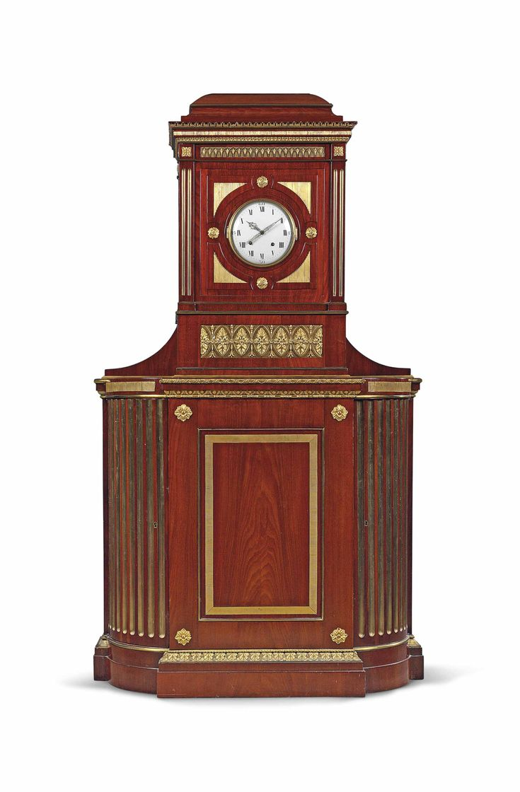date unspecified A GERMAN ORMOLU-MOUNTED MAHOGANY STRIKING CABINET CLOCK LATE 18TH CENTURY, CIRCLE OF DAVID ROENTGEN, POSSIBLY BY JOHANNES KROLL, MAINZ Price realised GBP 15,000