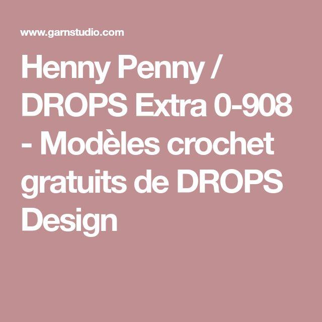 Henny Penny / DROPS Extra 0-908 - Modèles crochet gratuits de DROPS Design