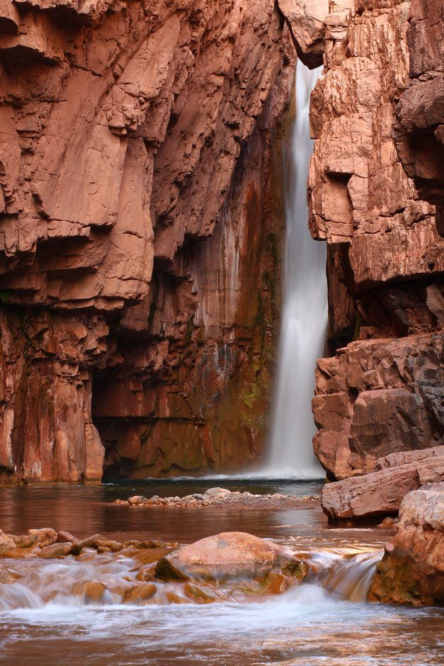 Secluded Cibecue Creek Falls within the White