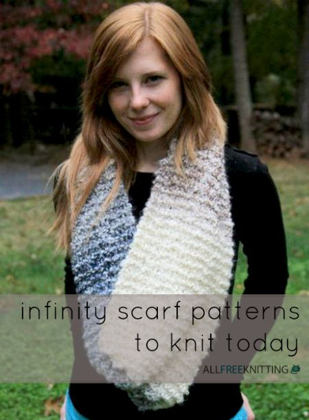 images about How to Knit an Infinity Scarf