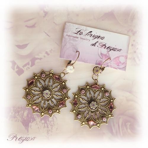 Pink Oriente ◘ Glass & Millefiori Mosaic Earrings