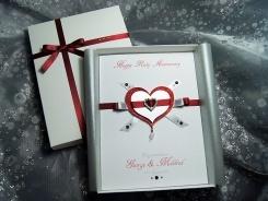 'Everlasting Ruby' - Luxury Handmade Anniversary Card - Everlasting Ruby - Handmade Wedding Anniversary Card