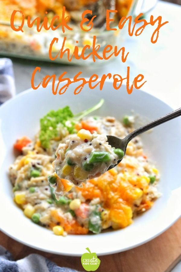 Chicken Casserole Is A Great Use For Leftover Chicken Rotisserie Chicken Canned Chicken Or Leftover Turkey It S An Easy Turkey Casserole Recipes Healthy