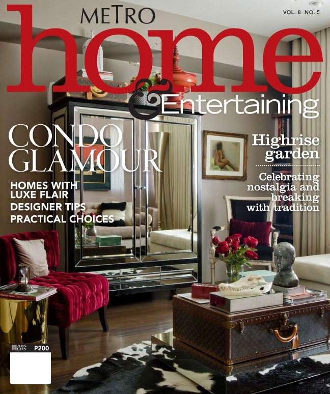Luxe apartment of a young businessman on the cover of Metro Home and  Entertaining Magazine. 16 best images about Metro Home and Entertaining s Philippine