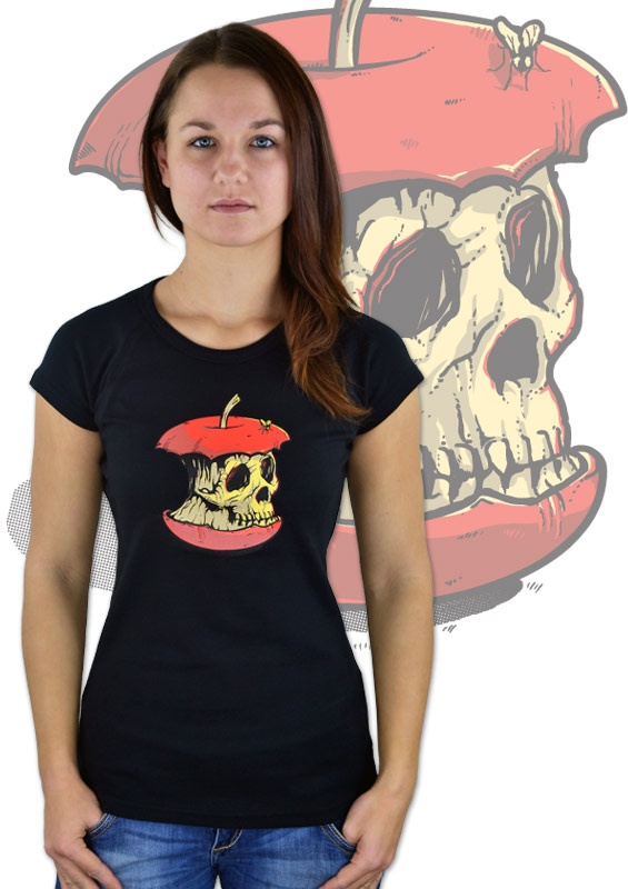 Dead Apple Damen T-Shirt  http://www.bastard-shop.de/damen-t-shirts/dead-apple-schwarzes-damen-t-shirt-755/