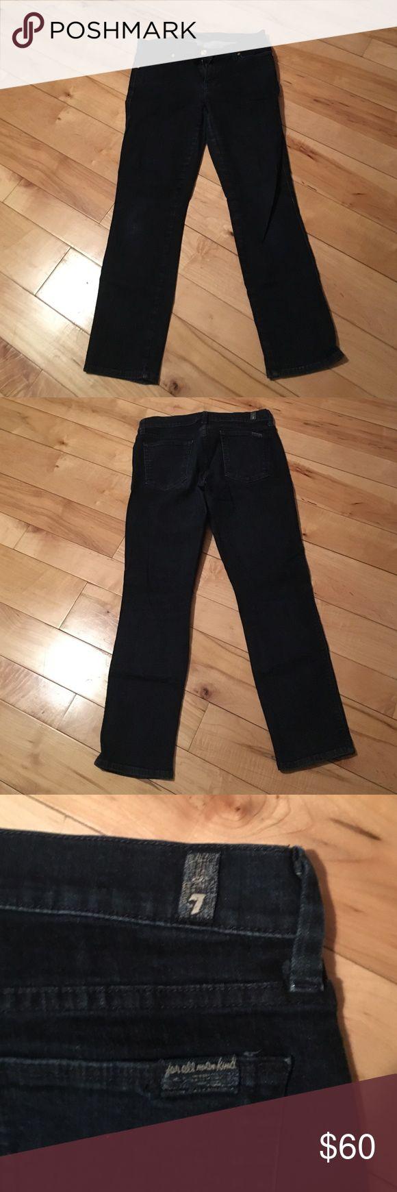 Dark blue jeans Dark blue seven jeans. Good condition. Fit is slim straight Seven7 Jeans Straight Leg