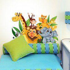 """Adesivo murale per bambini Wall Art """"Amici dispettosi 3"""" - Misure 60x40 cm - Decorazione parete, adesivi per muro, carta da parati"""