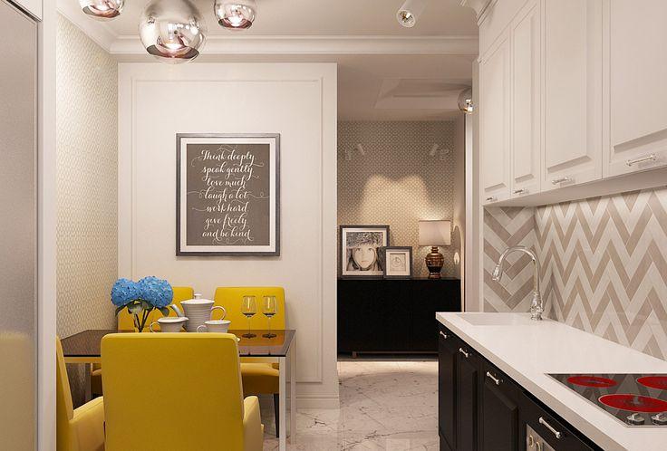 Кухня в однокомнатной квартире