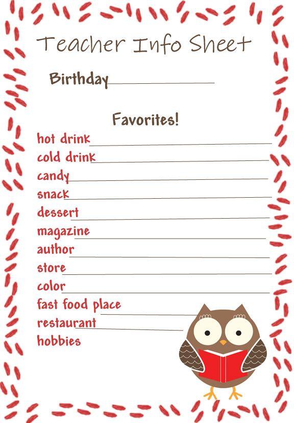 25+ beste ideeën over Teacher questionnaire op Pinterest ...