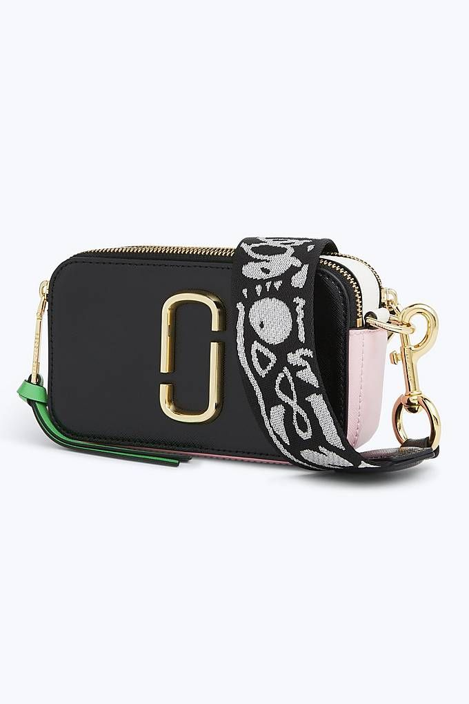 Marc Jacobs Snapshot Small Camera Bag in Black Baby Pink  ec42af323b1