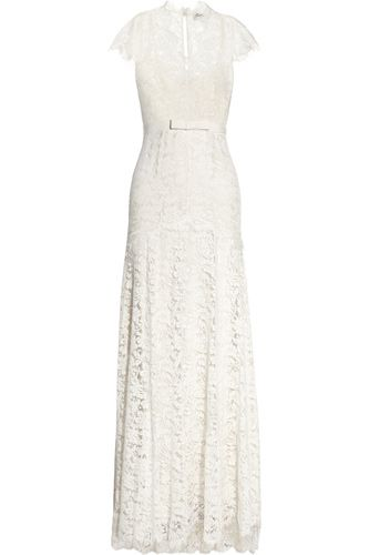 16 Stunning Wedding Frocks For Every S.F. Winter Bride #refinery29  http://www.refinery29.com/39474#slide-12  Temperley London Floral Lace And Silk Gown, $5,235, available at Net-A-Porter.