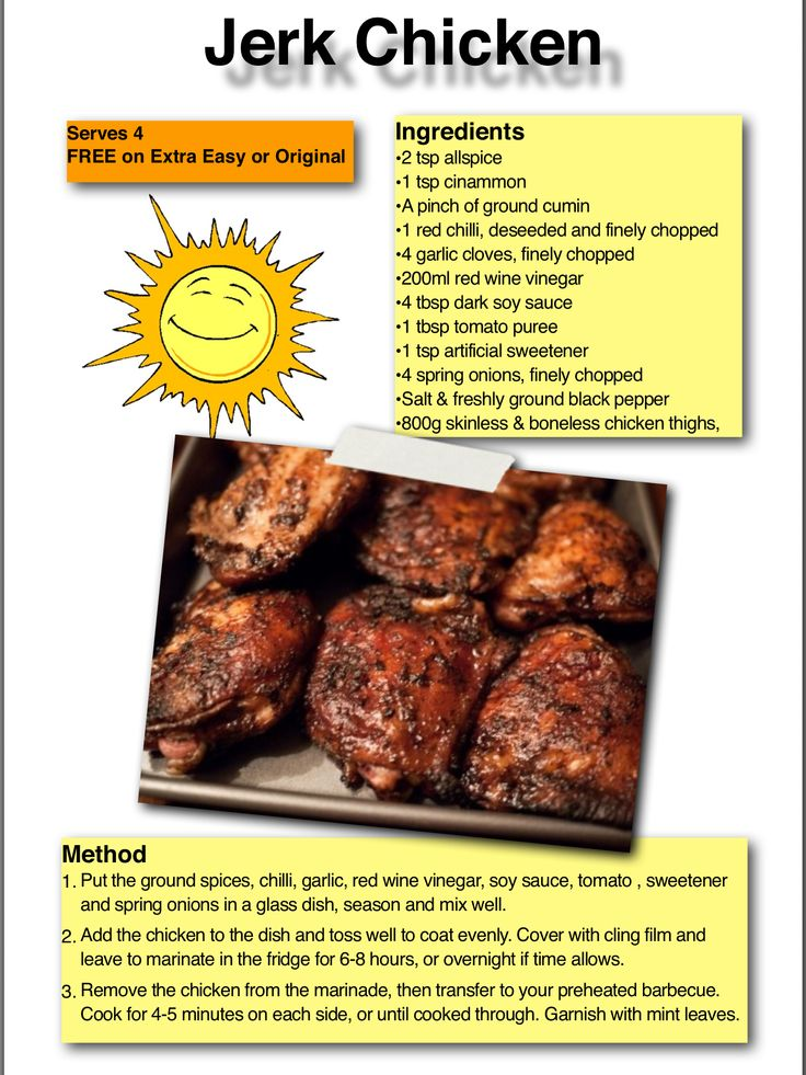 Sunshine Food - Jerk Chicken Free on Extra Easy or Original