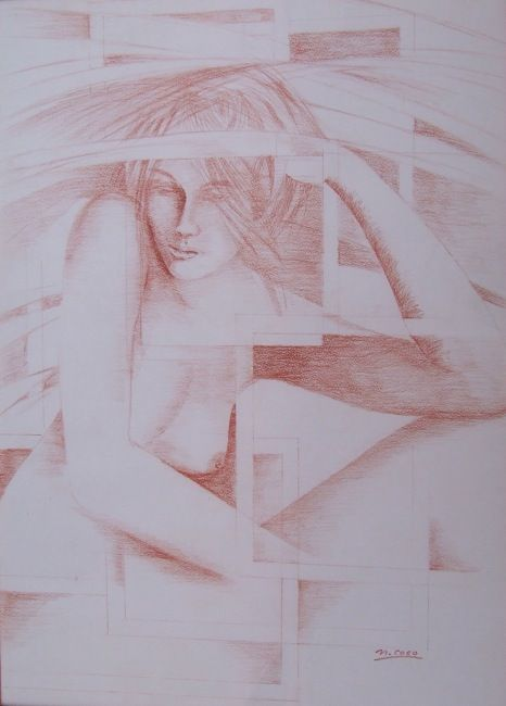 """Reflection"", sanguine (cm 50x70) Author: Nino Coco"