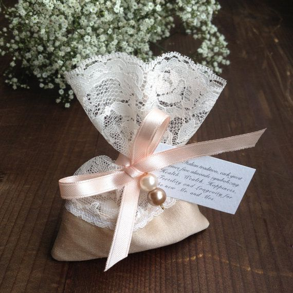 Lace Favor Bagitalian Wedding Favorsjewelry Favor Pouchbaptism Favorsjordan Almond Favor Bag