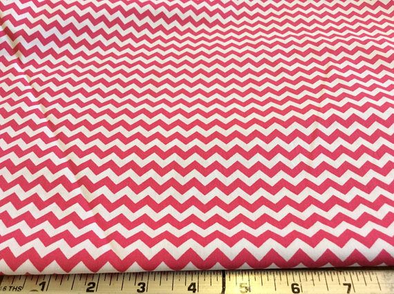 Fabric Finders Raspberry Chevron Cotton Apparel Quilting Applique Fabric By The Yard