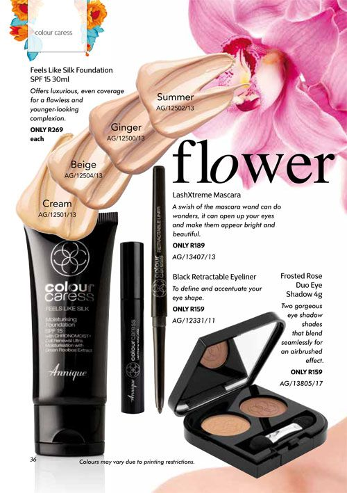 Annique September 2017 Beauté Frosted Rose Eye shadow & Feels like silk foundation. Purchase any of these months awesome #Annique #Specials from our online store AND earn rewards while you're there. #rooibosmiracle  https://rooibos-miracle.co.za/store/