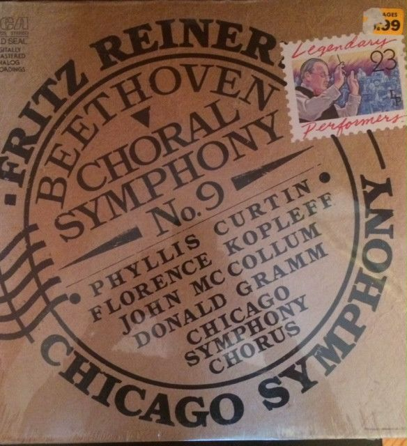Fritz Reiner - Beethoven Choral Symphony No. 9 - Chicago Symphony (Vinyl, Album) at Discogs