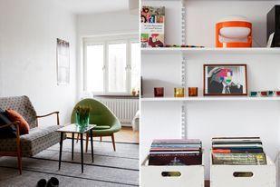 White. Shelves.