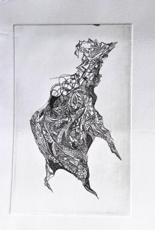 newborn / intaglio print / valentini mavrodoglou