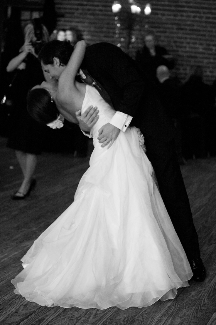 Our Wedding Dance Dip First Black White And Red Winter