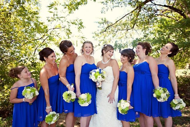 light blue cobalt and lime green wedding - Google Search