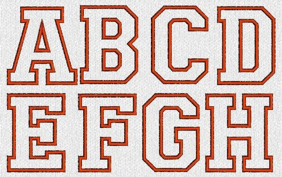 INSTANT DOWNLOAD Applique Alphabet Monogram by embroiderygirl, $6.00