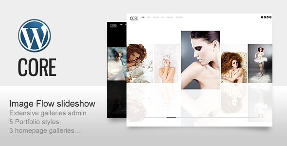 Core is the Minimalist Photography, Portfolio, Personal website Template built with latest Wordpress features. Custom Post Type and Image Uploader etc.