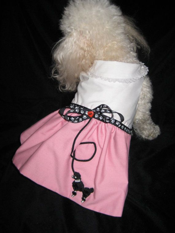 Pink Poodle by Syludu on Etsy, $15.00  What could be cuter than a poodle skirt on a poodle?!