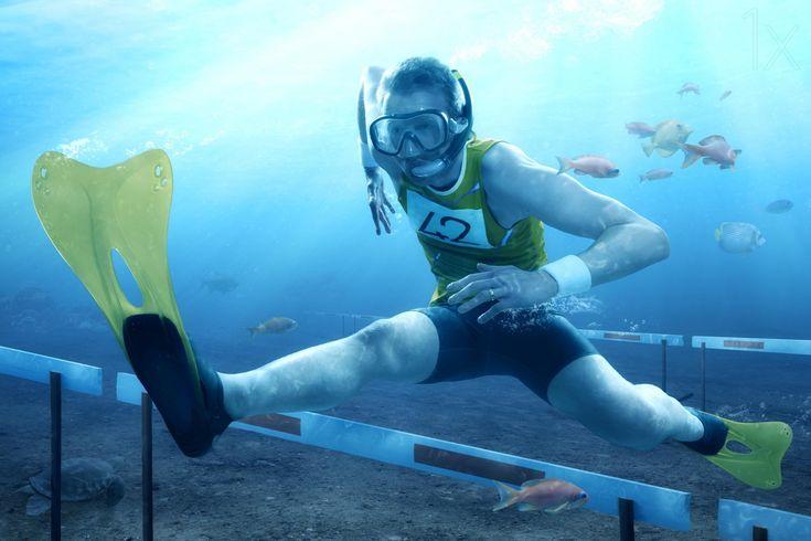 Underwater Hurdling by Christophe Kiciak