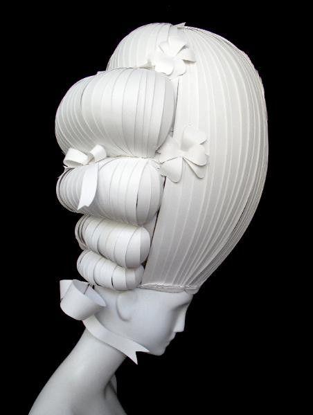 Marie Antoinette paper wig