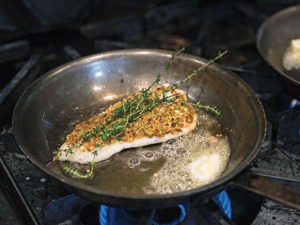 Pistachio-Crusted Triggerfish Seafood Recipe