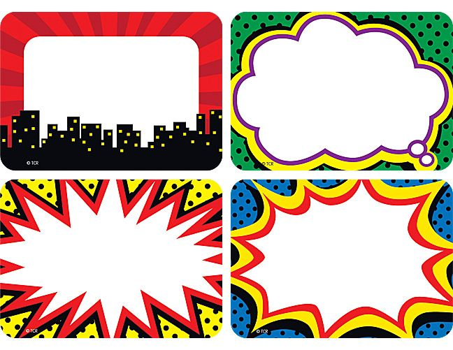 Superhero Name Tags/Labels - Multi-Pack
