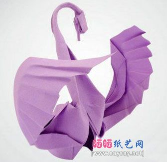 Origami Swan Paper Folding Tutorial Instructions (this one has the full instructions and diagram)