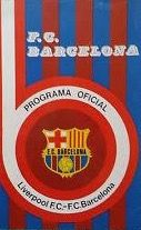 Barcelona 0 Liverpool 1 in March 1976 at Camp Nou. Programme cover for the UEFA Cup Semi Final, 1st Leg.