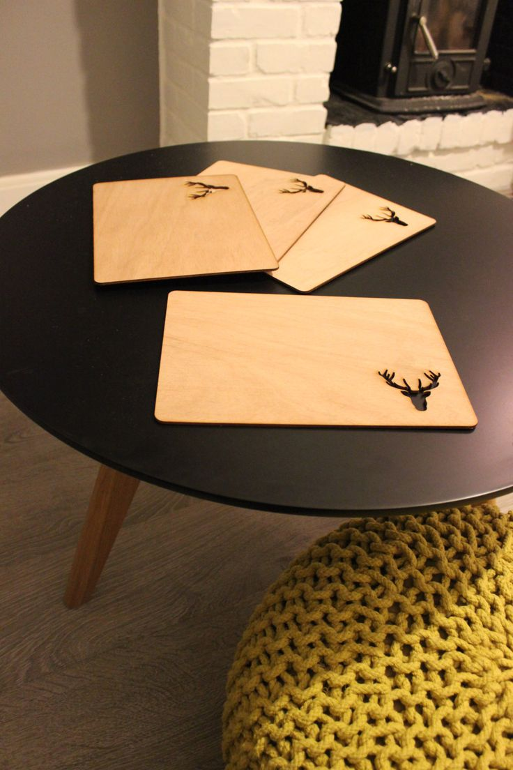 single deer placemat by CutOutsProductDesign on Etsy