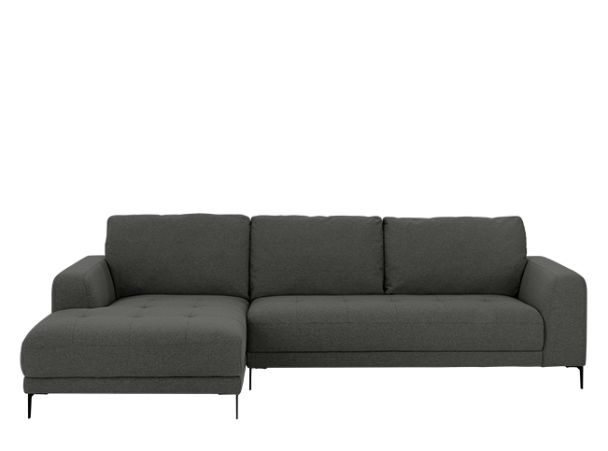 Luciano Left Hand Facing Corner Sofa, Hudson Grey