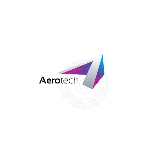 Arrow letter logo - Aeronautics technology and travel logo by Pixellogo