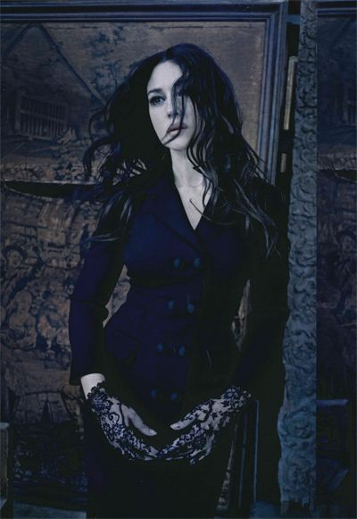 Monica Bellucci in a Dolce & Gabbana photo shoot by Paolo Roversi for Vogue Italia, September 2012