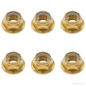 a 6x gold titanium rear sprocket flange nut yamaha yzf r6 r1 fzr fz6 fz1 seca