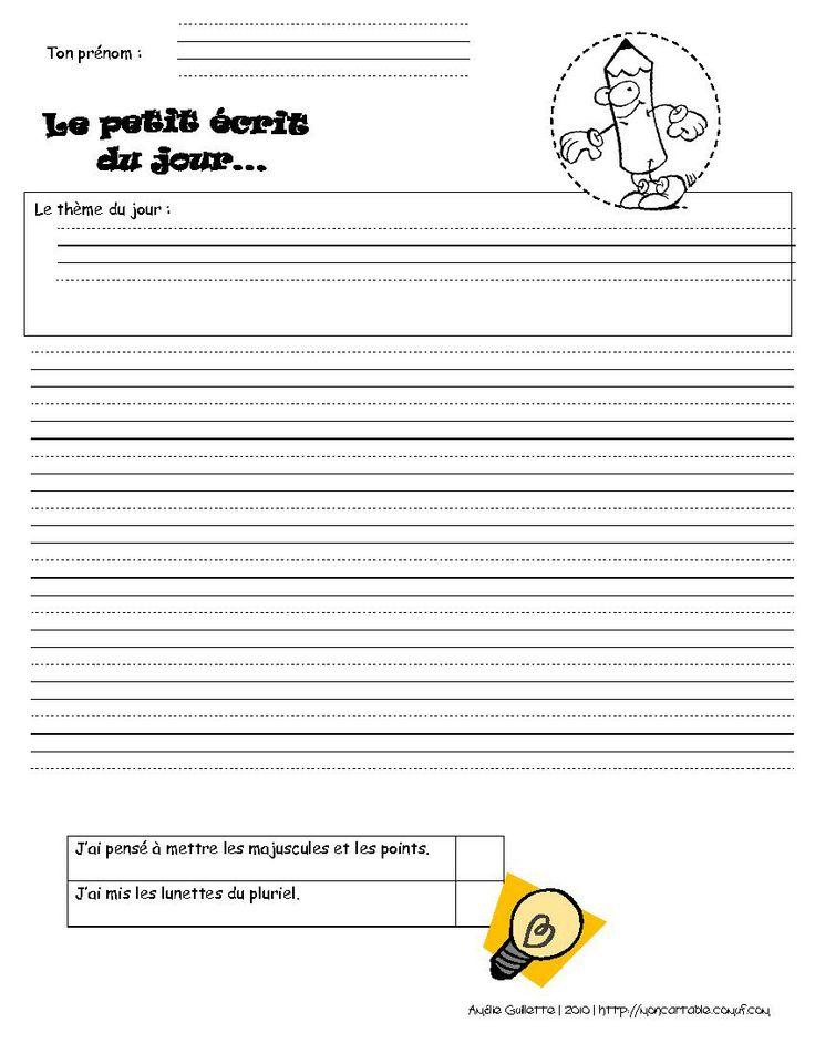 Mon cartable - Site de partage de ressources entre enseignants du préscolaire et du primaire - www.moncartable.ca - Différentes lignes trott...